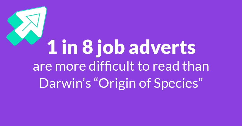 1 in 8 job adverts are more difficult to read than Darwin's Origin of Species